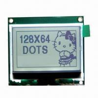 Graphics LCD Module with 128 x 64dots Display Type, FSTN/Transmissive/Positive LCD Type Manufactures