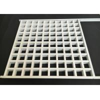 Buy cheap Aluminum Square Lattice Grille Suspended Ceiling in white from wholesalers