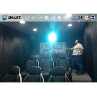 9 Persons 7D Movie Theater With Special Effect System , Thrilling Drastic Movement Of Chair Manufactures