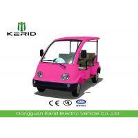 Mini Electric Four Person Golf Cart , Electric Tourist Car For Park City Walking Street Manufactures