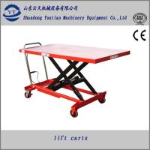 China Manuel hydraulic scissor lift table on sale