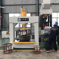 China 100 ton gantry forklift solid tire tyre hydrualic press machine for 8-25 inch Manufactures