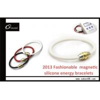 Fashionable Gold and Steinless Steel Clasp Power Balance Silicone Bracelet with Pure Titanium Manufactures