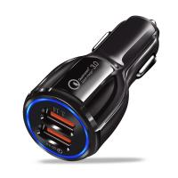China Black USB Car Charger MP3 Player Dual USB FM Transmitter High Frequency on sale