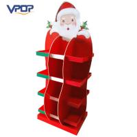 China Christmas Tree Shape Cardboard Advertising Stand Durable With Sturdy Structure on sale