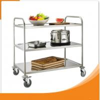 Single Line Kitchen Food Tray Trolley Cart  Stainless Steel for Restaurant Manufactures