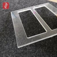 China factory custom 3mm tempered cut-out polished glass bezel plate for switch for sale
