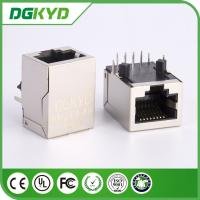 KRJ -017NL Magnetics Shielded Rj45 Pcb Connector With Integrated Transformer Manufactures