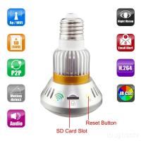 Quality EAZZYDV  Wireless HD960P Bulb-shaped  Hidden IP Camera with Invisible IR Light and Mirror Cover for sale