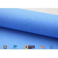 0.5mm 15oz Blue Silicone Coated Fiberglass Fabric For Auto Part Insulation Manufactures