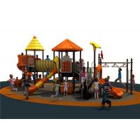 Orange Outdoor Activity Play Equipment With Water Slide Galvanized Manufactures