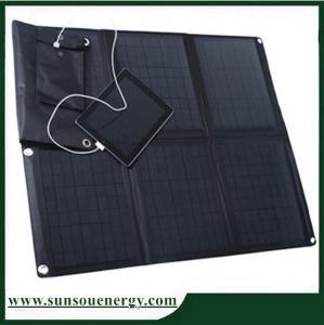 China Portable solar panel kits 60w, solar panel phone charger kits / 60w solar panel laptop charger for 12v battery etc on sale