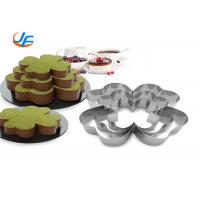 Quality Stainless Steel Cheese Mold / Mousse Ring Cake Mould Anodized Surface for sale