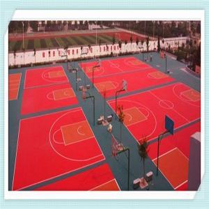 China pp interlock floor tile, interlocking sport tile on sale