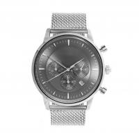 Light Grey Face Stainless Steel Wrist Watch , Mens Stainless Steel Chronograph Watches Manufactures