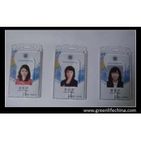 China Transparent hard ID card holder good plastic employee name card business card pouches on sale