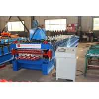 Double Deck Roofing Sheet Roll Forming Machine PLC Control Easy Operation
