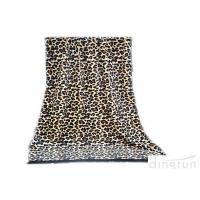 China Professional Sexy Leopard Custom Printed Beach Towels With Tassel wholesale