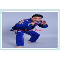 100% Cotton Blue jiu jitsu clothing Custom Martial Arts Uniforms for Adults Manufactures