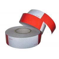China Trailers High Intensity Reflective Conspicuity Tape / Trucks Red White Reflective Tape on sale