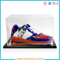 best selling good quality high clear acrylic shoe display box,modern design lucid shoe holder storage clear acrylic shoe Manufactures
