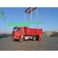 China 336hp Red Heavy Duty Dump Truck Sinotruk 18m3 Mid Lifting For 40t Load on sale