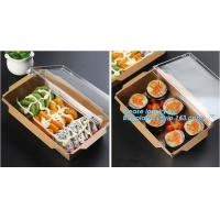 China Custom sized disposable folding brown kraft paper food take out lunch boxes,Recycled Custom Lunch Food Kraft Paper Box,P on sale