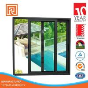 Renshi Australia Standard Double Pane Aluminum Frame Sliding Glass Window Manufactures