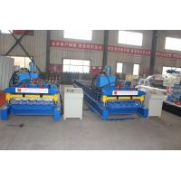 China Versatile Summit Glazed Tile Roll Forming Machine Durable Welded Steel Frame on sale