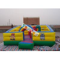 Kids Play Games Inflatable Playground / Fun City with 0.45mm - 0.55mm PVC tarpaulin Manufactures