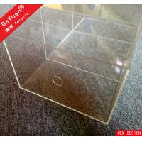 Plastic Clear Acrylic Shoe Box Display Custom With Drop Front