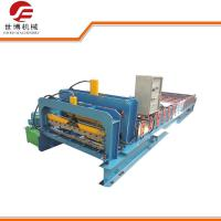 Buy cheap Galvanized Steel Roofing Sheet Making Machine PLC Control 3-6m/Min Speed from wholesalers