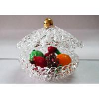 China Glass Handicrafts fruit dish Fruits Basket for Home Decoration on sale