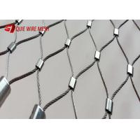 China 7x7 Construction Metal Wire Mesh Inox Cable Wire Rope Mesh Weather Resistant on sale