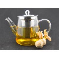 Easy Clean 41oz Glass Teapot With Infuser Handmade Mouthblow For Resturant Manufactures