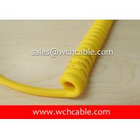UL21687 Strain Relief Molded Curly Cable PUR Sheath Rated 80C 30V Manufactures