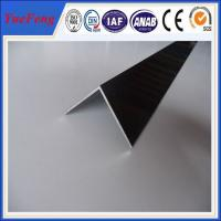 Quality 6063 T5 aluminum angle profile / OEM aluminum angles / per ton of aluminum manufacturer for sale
