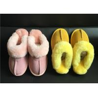 Tan Suede Sheepskin Slippers Winter Women Chestnut Classic Sheepskin Slippers Manufactures