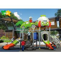 China Entertaiment Park Outdoor Play Equipment Plastic Embankment Slide Small Combination Customized on sale