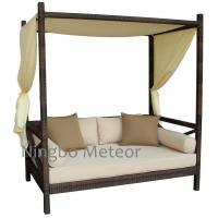 MTC-330 Outdoor Rattan Furniture , Beach / Riverside / Poolside Gazebo /wicker sofa bed Manufactures
