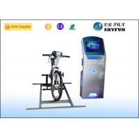 Professional Blue virtual reality bike ride Sport Game With 3D Glasses Manufactures