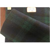 Double Sided Green Tartan Fabric60% Wool , Scottish Plaid FabricWith Horizontal And Vertical Line Manufactures