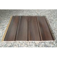 China Wood Grain Strip Laminated PVC Wall Panel 3D Effect Self - Fire Extinguishing on sale
