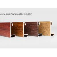 China Custom Wood Grain Copy Aluminium Picture Frame Mouldings Profiles for sale