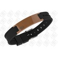 Stainless Steel Magnetic Bracelets Brown Ceramic  2500 Gauss NdFeb Magnets Manufactures