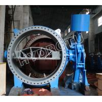 hydraulic counter weight butterfly valve