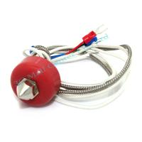 China 0.2mm/0.3mm/0.4mm/0.5mm 12V Singel-mouth Nozzle Extruder Heating Print Head with Thermocouple Cable for 3D Printer Free on sale