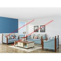 Quality Solid woood with Fabric sofa set in Mediterranean Leisure design Furniture from for sale
