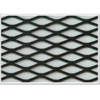 Flattened Aluminum Expanded Metal Mesh Sheet Raised With Diamond Holes for sale