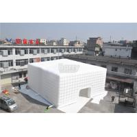 White 15x15M Inflatable Tent , Custom Made Led Inflatable Party Tent Cube For Event Manufactures